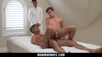 MormonBoyz- Horse hung daddy fucks the cum out of Mormon boy