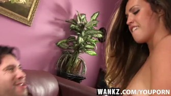 WANKZ- Hot Brunette with Big Firm Yoga Bootie
