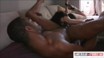 Big tittied Arabelle Raphael gives sloppy fucking deep throat to John Johnson