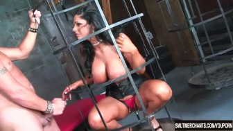 Hot brunette stripper fucked