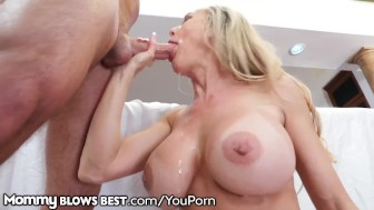brandi need lets stepson finish in her sexy mouth