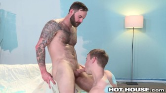 Gabriel Cross gets His Hole Stretched on the Job!
