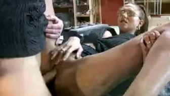 Dutch MILF With Glasses Fucked At Work