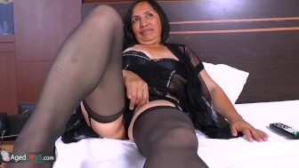 AgedLovE Horny Mature Latina Chick Hardcore Sex