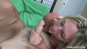 Cumshot for the mature slut