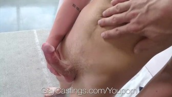 GayCastings Newcomer Leo Luckett fucked and facial by casting agent