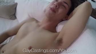 GayCastings Amateur twink Damon Diaz fucks casting agent on film