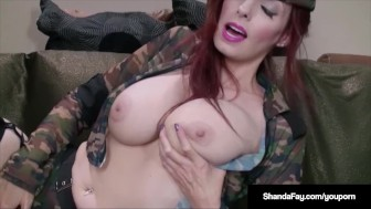 Hot Housewife Shanda Fay Services Her Soldier's Hard Cock!