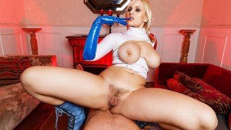 VR Powergirl ASSembly Parody With Huge Boobed Angel Wicky VRCosplayX com