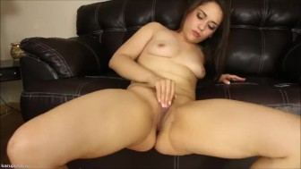 Hot Girl Rubs Her Hairy Pussy