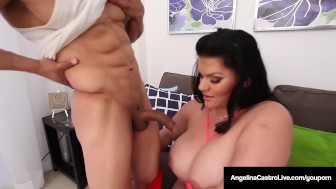 cuban bbw angelina castro blows & fucks puerto rock's cock!