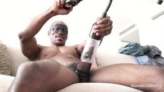 Maskurbate Milking my Huge Black Cock