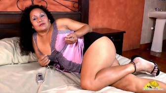 LatinChili Chubby Mature Naked Tits And Pussy
