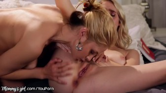 Cadence Lux Rides Mommys Strapon