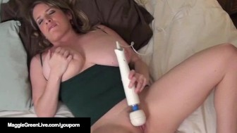 I Cum So Hard With A Cock In My Mouth While Using A Hitachi!