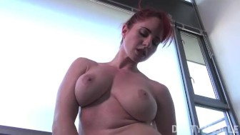 Amateur Redhead Female Bodybuilder Fingers Herself