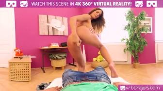 VR PORN-Hot College Teen masturbate in class