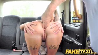 fake taxi cheating brunette takes huge dick in her tight booty
