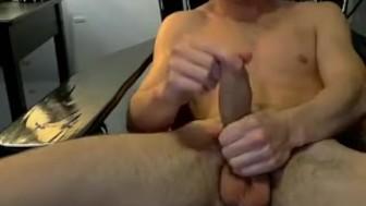 Horny butt muncher Zack Randall caresses his thick manhood