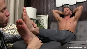 Business men Sean Holmes and Justin Case feet worship time
