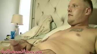 Tattooed twink Tatt loves having his cock sucked by Joe