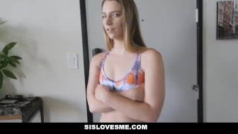SisLovesMe - Tease By Step-Sis Left With Blue balls