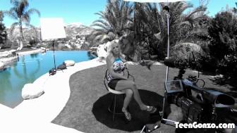 TEENGONZO Blonde MILF Nina Elle penetrated hard in all poses