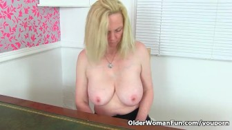 english milf fiona can't control her hungry vagina