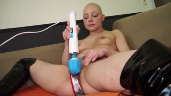 Shaved Teen Homemade Intense Orgasm