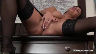 Busty Milf Cassie Clarke Pussy Fingering