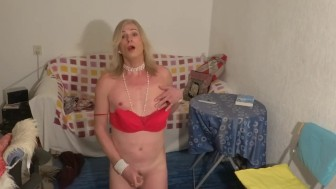 Dutch tranny shows herself masturbating shorter compilation