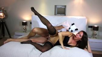 My Dirty Hobby - Brunette fucks her shy date