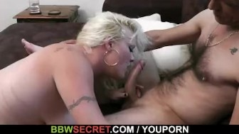 Fat bitch uses chance to fuck her husband