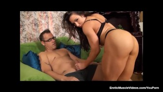 EroticMuscleVideos - Muscular Girl Shares A Cup Of Hard Sugar & Blue Balls
