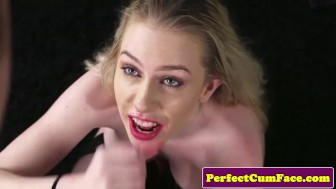 young bigtitted auditioning beauty facialized