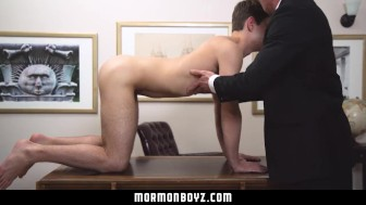 Mormonboyz - Boy submits to physical inspection & raw fuck