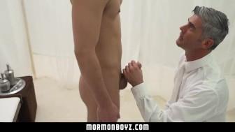 Mormonboyz - Sub bottom boy submits to daddy raw