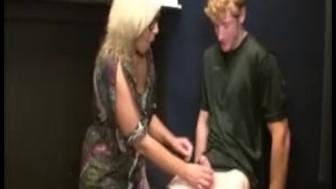 Blonde milf cock sucking