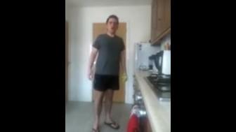 British Guy Sneezing and Wearing Flip Flops Fetish Compilation