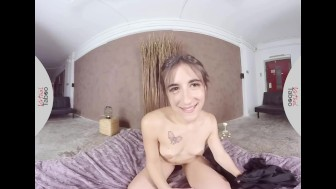 VIRTUAL TABOO - Spanish Teen Ena Sweet Fingers Her Pussy in Bed