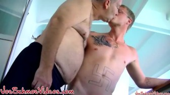 Black twink Joe blows hung guy Eric