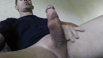 jerking off his cock