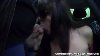 Slutwife Marion gangbanged at a huge rest area in June 2017